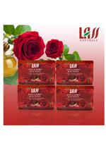 Lass naturals Rose & Honey with Petals Soap - 4 pc Set