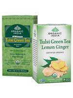 Combo of Tulsi Green 25 Tea Bags + Tulsi Green Tea Lemon Ginger 18 Tea Bags