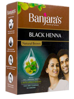 Banjaras Natural Brown Black Henna (Sachet)