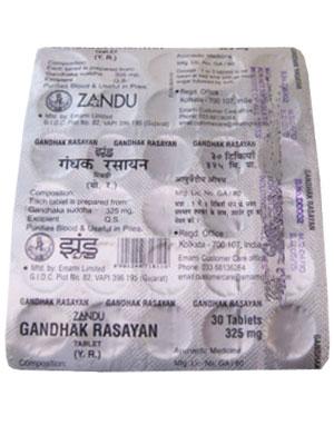 Zandu Gandhak Rasayan Tablets