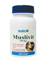 HealthVit Muslivit 250 MG 60 Capsules