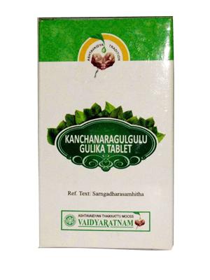 Vaidyaratnam Kanchanara Gulgulu Gulika Tablets