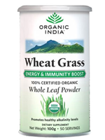 Organic India Wheat Grass For Energy & Immunity Boost